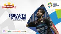Superstar Asian Games, Srikanth Kidambi. (Bola.com/Dody Iryawan)