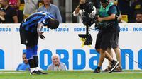 Selebrasi Romelu Lukaku setelah mencetak gol perdana untuk Inter Milan. (dok. Inter Milan)