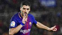 6. Luis Suarez (Barcelona) - 11 Gol (1 Penalti). (AP/Alvaro Barrientos)