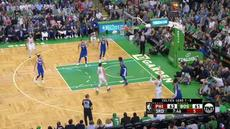 Berita video game recap NBA 2017-2018 antara Boston Celtics melawan Philadelphia 76ers dengan skor 108-103.