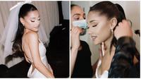 Ariana Grande bagikan momen pernikahannya yang digelar di rumahnya. (Sumber: Instagram/@arianagrande)
