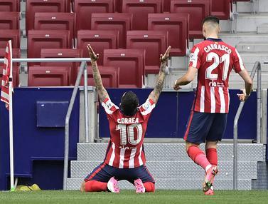 FOTO: Atletico Madrid Kembali ke Puncak usai Libas SD Huesca 2-0 - Angel Correa