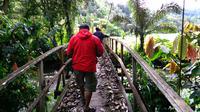 Jembatan gantung penghubung hutan adat dengan Desa Marena, Kecamatan Kulawi, Kabupaten Sigi, Sulteng. (Liputan6.com/Anri Syaiful)