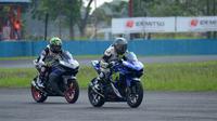 Pembalap pemula mampu mempertajam catatan waktu di Yamaha Sunday Race seri 2 di Sirkuit Sentul, Minggu (6/5/2018) (dok: Yamaha)