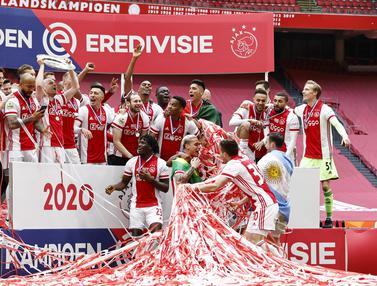 FOTO: Gilas Emmen 4-0, Ajax Amsterdam Pastikan Gelar Juara Liga Belanda 2020-2021