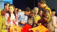 Wali Kota Semarang Hendrar Prihadi dalam pembukaan Rapat Kerja Nasional (Rakernas) Asosiasi Pemerintah Kota Se-Indonesia (Apeksi). (foto: Liputan6.com / felek wahyu)