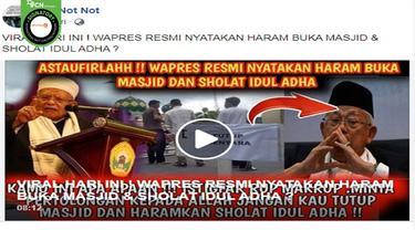 Gambar Tangkapan Layar Kabar Ma'ruf Amin Sebut Haram Buka Masjid dan Salat Idul Adha (sumber: Facebook).