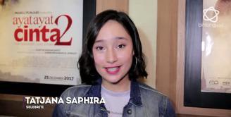 Tatjana Saphira mengaku senang warga Cianjur dapat menonton film AAC 2.