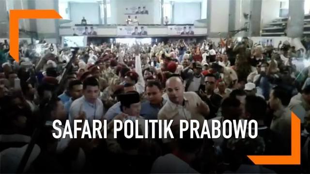 Capres nomor urut 02 Prabowo Subianto bersafari politik ke Mojokerto. Prabowo bertemu dengan asosiasi petani tebu dan berdialog denfan pengasuh dan Santri di Ponpes Riyadlul Jannah
