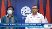 (Ki-ka): Direktur Operasional PT Palapa Ring Timur Telematika Edy Siahaan Mora dan Dirut BAKTI Kemkominfo Anang Latif.