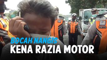 VIDEO: Bocah Nangis Ketakutan Kena Razia Motor