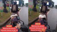 Aksi Pengendara Motor Cuek Joget di Lampu Merah Ini Jadi Pusat Perhatian, Kocak (sumber: TikTok/callmeay10)