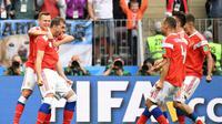 Rusia mengalahkan Arab Saudi dengan skor 3-0 pada pertandingan pembuka Piala Dunia 2018. (AFP/Kirill Kudryavtsev)