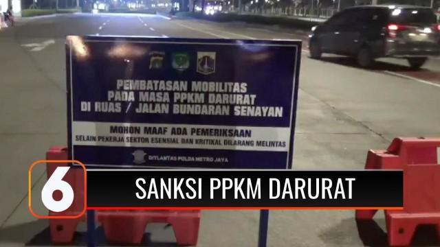 Pemerintah mulai memberlakukan PPKM Darurat Jawa-Bali. Pemberlakuan PPKM Darurat di Ibu Kota pada Sabtu dini hari (03/7), ditandai dengan penutupan jalan di kawasan Bundaran Senayan, Jakarta Pusat.
