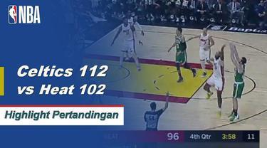 Gordon Hayward membuat skor tertinggi dalam pertandingan 25 poin dari bangku cadangan untuk memimpin Celtics meraih kemenangan di Miami 112-102