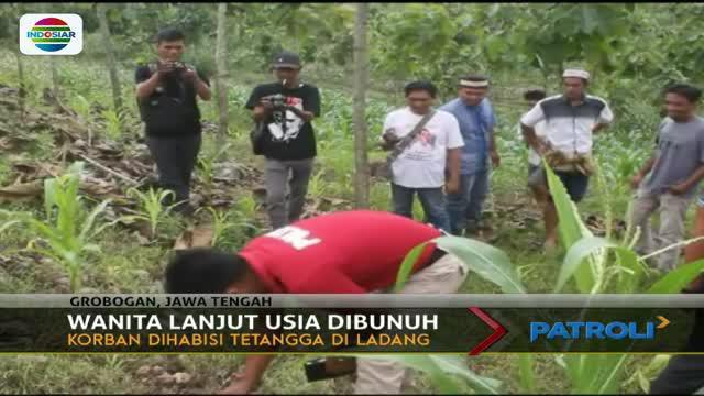 Seorang nenek di Grobogan, Jawa Tengah, tewas dibunuh oleh seorang pemuda yang diduga mengalami gangguan jiwa.