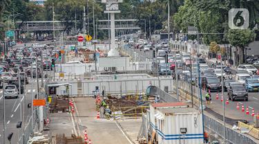FOTO: Pembangunan MRT Jakarta Fase II Terkendala Pandemi COVID-19