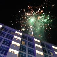 Kembang api di perayaan tahun baru 2019/copyright Swiss-Belinn Malang