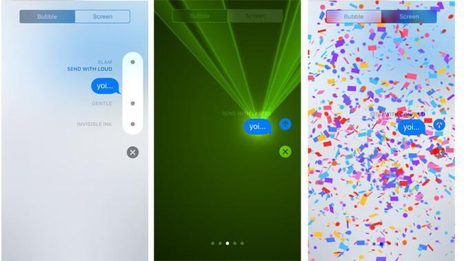 iMessage di iOS 10 terlihat lebih menarik. (Liputan6.com/Yuslianson)