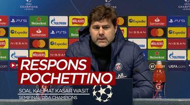 Berita video respons dari Pelatih PSG, Mauricio Pochettino, soal kalimat kasar yang dikabarkan dilontarkan wasit kepada pemainnya setelag laga leg II semifinal Liga Champions 2020/2021, Rabu (5/5/2021) dinihari WIB.