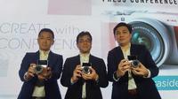 Peluncuran Fujifilm X-A5 oleh Presiden Direktur Fujifilm Indonesia Noriyuki Kawakubo (Liputan6.com/ Agustin Setyo W)