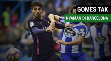 Gelandang Barcelona, Andre Gomes mengungkapkan tak nyaman di Barcelona.