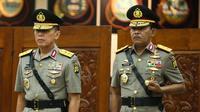 Kapolri melantik Idham Azis sebagai Kapolda Metro Jaya (Liputan6.com/ Faizal Fanani)
