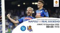 Prediksi Napoli vs Real Sociedad di Liga Europa. (foto: Liputan6.com/Triyasni)