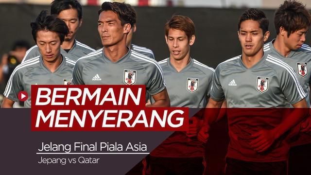 Berita Video Jelang Final Piala Asia 2019, Jepang Bermain Menyerang Hadapi Qatar