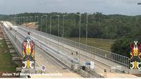 Pembangunan infrastruktur Kementerian PUPR mendukung pertumbuhan ekonomi Kalimantan Timur. (foto: dok. KemenPUPR)