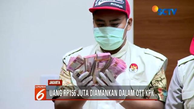 KPK amankan barang bukti berupa uang sebesar Rp 156 juta dalam OTT Ketum PPP Romahurmuziy.