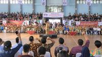 Wali Kota Tangerang Arief R. Wismansyah menghadiri  acara Millenial Expo dan Deklarasi 1.000 Kampung Pemuda. (Liputan6.com/Pramita Tristiawati)