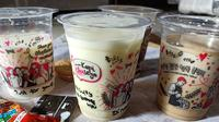 Beberapa varian minuman Kopi Chuseyo. (Liputan6.com/Dinny Mutiah)