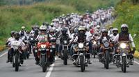 Akhir pekan kemarin, kawasan The Kaldera Nomadic Escape Danau Toba dipenuhi ribuan bikers peserta Suryanation Motorland Ridescape 2019. (ist)