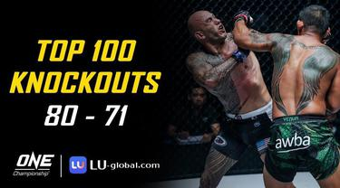 Berita Video Top 100 Knockouts di One Championship, Ada Pukulan Berputar Aung La N Sang Kepada Brandon Vera