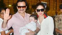 Saif Ali Khan, Kareena Kapoor dan bayi Taimur. (Indiatoday.in)