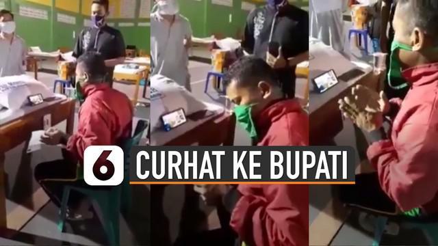 Beredar video pria yang sedang curhat kepada Bupati Jombang melalui video call.