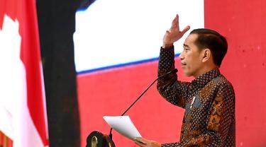 Presiden Jokowi saat acara Rapat Koordinasi Nasional (Rakornas) Pengadaan Barang/Jasa Pemerintah Tahun 2019, di Plenary Hall JCC. Foto: Lukas - Biro Pers Sekretariat Presiden