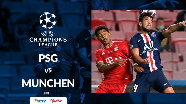 Berita motion grafis statistik final Liga Champions 2019-2020, PSG vs Bayern Munchen pada Senin (24/8/2020).
