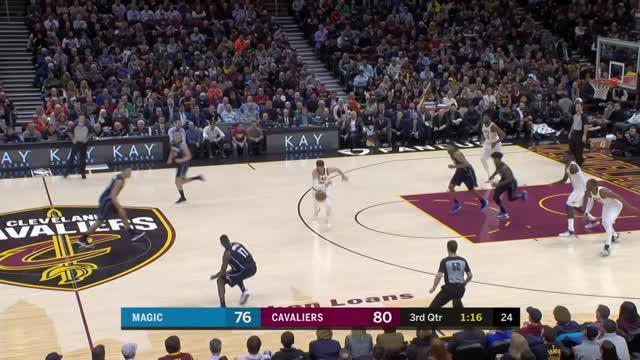 Berita video game recap NBA 2017-2018 antara Cleveland Cavaliers melawan Orlando Magic dengan skor 104-103.