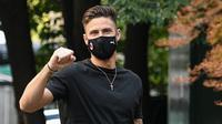 Olivier Giroud resmi menjadi pemain AC Milan. (AFP/Pierro Cruciatti)