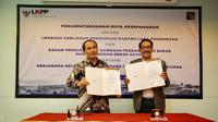 Penandatanganan Nota Kesepahaman atau Memorandum of Understanding (MoU) tersebut ditandatangani langsung oleh Kepala BP Batam, Edy Putra Irawady dan Kepala LKPP, Roni Dwi Susanto.