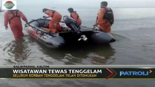 Dua wisatawan yang tenggelam saat berenang di kawasan objek wisata Pantai Segara Sari, Balikpapan, Kalimantan Timur, ditemukan tak bernyawa.