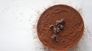 ilustrasi bubuk cokelat