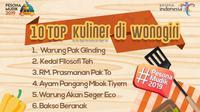 10 Top Kuliner di Wonogiri.