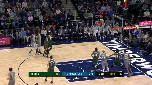 Berita video game recap NBA 2017-2018 antara Minnesota Timberwolves melawan Milwaukee Bucks dengan skor 108-89.