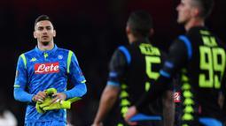Alex Meret. Kiper kedua Napoli berusia 24 tahun ini diprediksi akan menjadi kiper Timnas Italia di masa datang. Musim ini telah bermain dalam 21 laga Serie A dengan mencatat 6 clean sheet dan kebobolan 28 gol. (AFP/Ben Stansall)