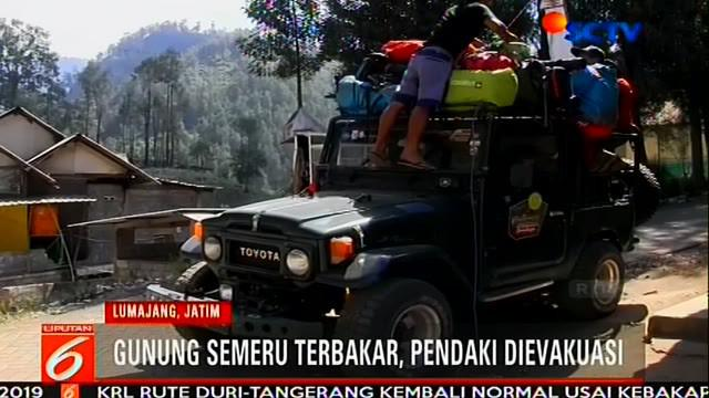 Balai Besar Taman Nasional Bromo Tengger Semeru (BBTNBTS) menutup kegiatan pendakian ke Gunung Semeru, Jawa Timur, mulai Minggu (22/9/2019).