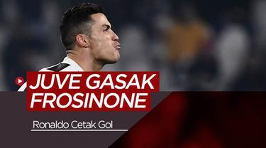 Berita video highlights Serie A Italia antara Juventus menghadapi Frosinone Sabtu (16/2/2019) dinihari WIB. Cristiano Ronaldo mencetak satu gol pada laga ini.