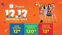 """Pada 12 Desember 2018 ini, Shopee akan menyelenggarakan acara spektakuler bertajuk""""Shopee 12.12 Birthday Sale"""". Selain promo dan hadiah yang fantastis, kamu juga akan dihibur dengan penampilan dari sederet selebritas ternama."""